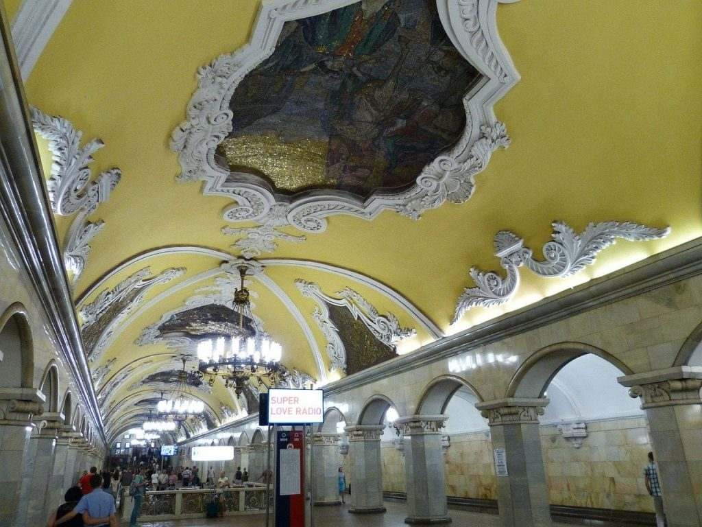 most beautiful stations of the Moscow metro