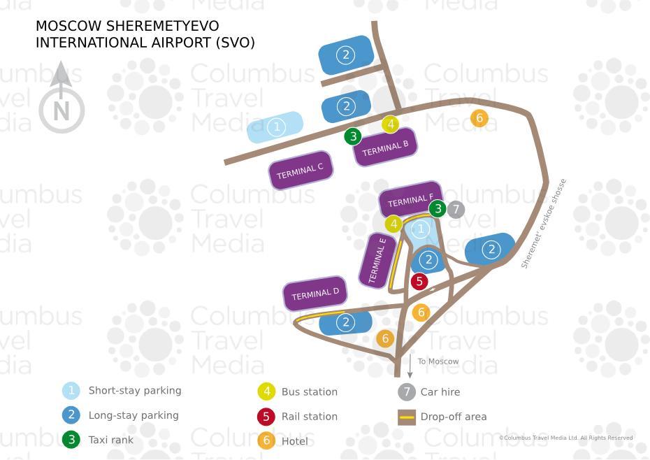 Moscow Sheremetyevo Airport Transfer Sheremetyevo Airport Plan