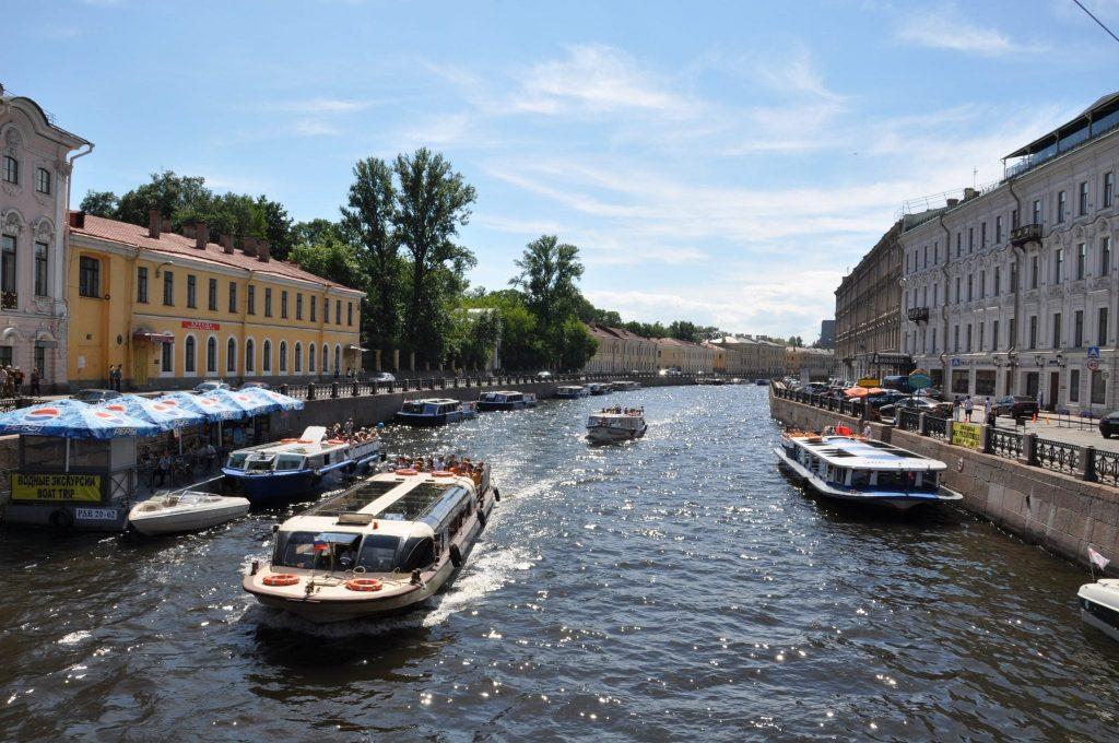Boat trip in St. Petersburg