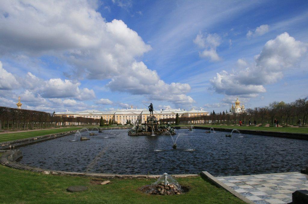 Peterhof Palace fountains gardens