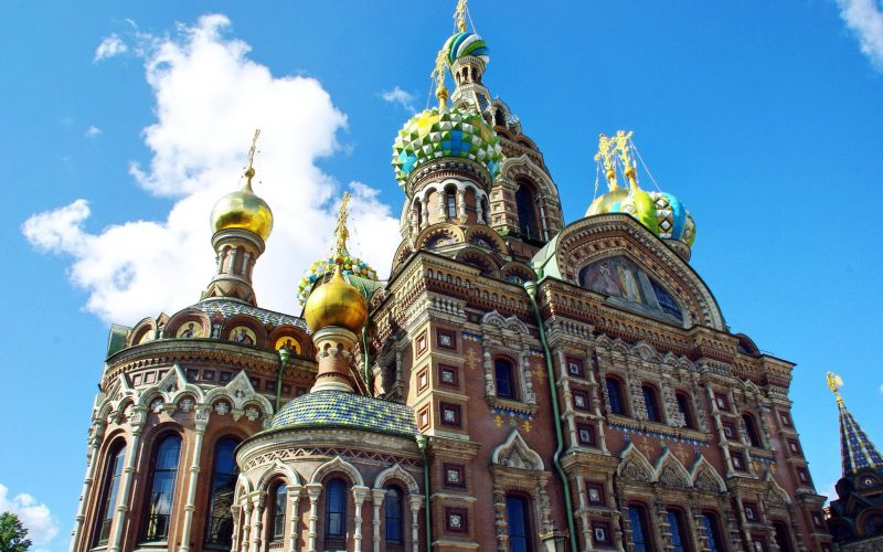 Visiting Church of the Savior on Spilled Blood St Petersburg